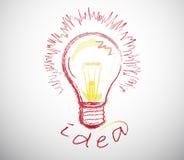 Creative Idea Lamps. Creative idea solution sign or symbol Stock Photo