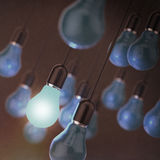 Creative idea and leadership concept light bulb Stock Photos