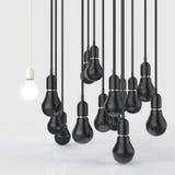 Creative idea and leadership concept light bulb Stock Images