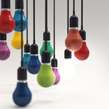 Creative idea and leadership concept light bulb Stock Image