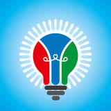 Creative idea light bulb on blue background Royalty Free Stock Image