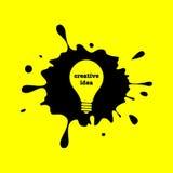 Creative idea light bulb Royalty Free Stock Images