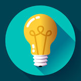 Creative idea in light bulb shape as inspiration concept. Flat icon. Royalty Free Stock Photos