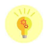 Creative Idea in Light Bulb Shape Stock Photos