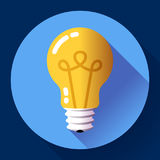 Creative idea in light bulb shape as inspiration concept. Flat icon. Royalty Free Stock Image