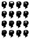 Creative idea mind icons set Royalty Free Stock Photography