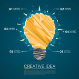 Creative idea of origami lamp Stock Photos