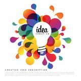 Creative idea template royalty free illustration