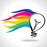 Creative idea vector with bulb Royalty Free Stock Photography