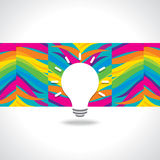 Creative idea vector with bulb Royalty Free Stock Photos
