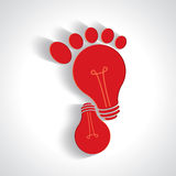 Creative idea of walking icon Stock Images