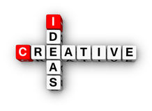 Creative Ideas. (3D cubes crossword series Royalty Free Stock Image