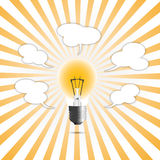 Creative Ideas. In concept the light Royalty Free Stock Photography