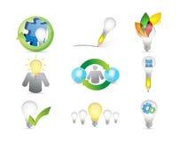 Creative ideas concept icon set Royalty Free Stock Image