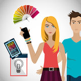 Creative ideas graphic designer Royalty Free Stock Images