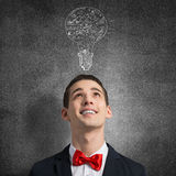 Creative ideas in head Stock Photography