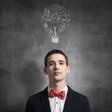 Creative ideas in head Stock Image