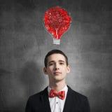 Creative ideas in head Stock Photos
