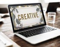 Creative Ideas Imagination Inspiration Leaf Nature Concept. Computer Notebook Screen Creative Ideas Imagination Inspiration Leaf Nature stock photos
