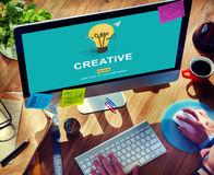 Creative Ideas Imagination inspiration Light Bulb Concept Royalty Free Stock Photography