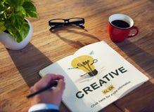 Creative Ideas Imagination inspiration Light Bulb Concept Royalty Free Stock Photos