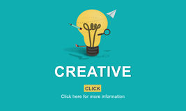 Creative Ideas Imagination inspiration Light Bulb Concept Royalty Free Stock Images