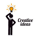 Creative ideas. Over  white background vector illustration Stock Photo