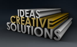 Creative Ideas and Solutions stock illustration