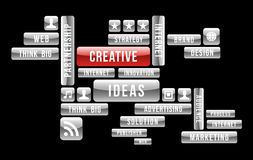 Creative ideas web buttons Stock Photos