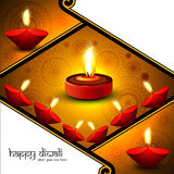 Creative illuminating Diya colorful  Royalty Free Stock Photos