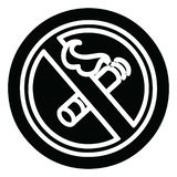 No smoking icon. A creative illustrated no smoking icon image royalty free illustration