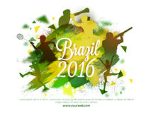 Creative illustration for Brazil Summer Games 2016. Royalty Free Stock Photography