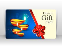 Creative illustration of burning diya with fireworks, diwali gift card. Design on happy Diwali Holiday background for light festival of India vector illustration