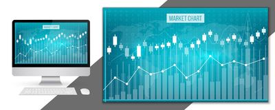 Creative  illustration of business data financial charts. Finance diagram art design. Growing, falling market stock analysis. Graphics set. Concept graphic Royalty Free Stock Image