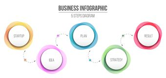 Creative illustration of diagram information on background. 4 business step options. Art design information templa. Te. Abstract concept graphic element royalty free illustration