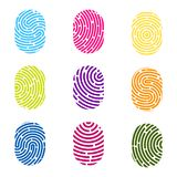 Creative  illustration of fingerprint. Art design finger print. Security crime sign. Abstract concept graphic element. Thumb. Print id Stock Images