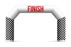 Creative  illustration of finish line inflatable arch isolated on background. Art design archway suitable for different outd. Oor sport event. Concept graphic Royalty Free Stock Photography