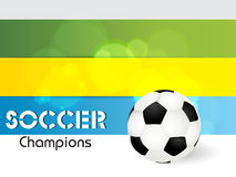 Creative Illustration football in Brazil flag conc Stock Images