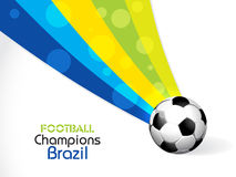 Creative Illustration football in Brazil flag conc Royalty Free Stock Photo