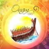 Creative illustration for Happy Onam celebration. Stock Photo