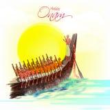Creative illustration for Happy Onam celebration. Royalty Free Stock Image