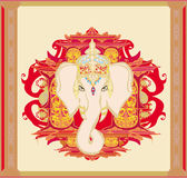 Creative illustration of Hindu Lord Ganesha Stock Photo