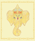 Creative illustration of Hindu Lord Ganesha Royalty Free Stock Photos