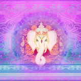 Creative illustration of Hindu Lord Ganesha Royalty Free Stock Images
