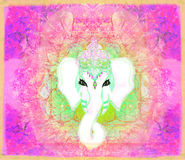 Creative illustration of Hindu Lord Ganesha Royalty Free Stock Image