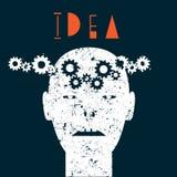 Creative illustration of human idea. Vector EPS10 Royalty Free Stock Image
