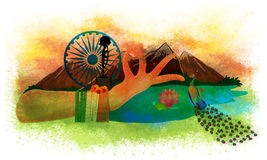 Creative illustration for Indian Independence Day. Stock Photography