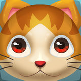 Creative Illustration and Innovative Art: Cat Face Icon. Royalty Free Stock Photos