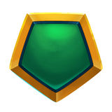 Creative Illustration and Innovative Art: Game Props: The Metal Badge. Royalty Free Stock Image