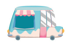 Creative Illustration and Innovative Art: Grocery Van. Stock Images